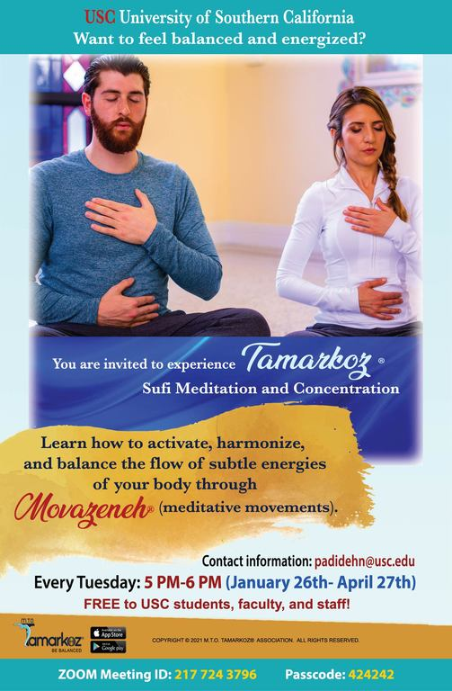 Weekly Tamarkoz Sessions Offered to University of Southern California Students and Faculty